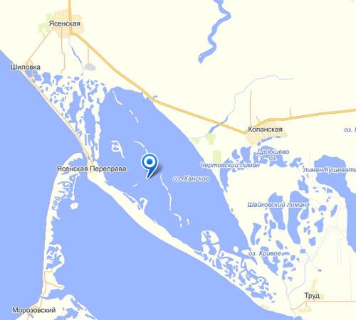 Карта Ханского озера