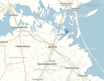 Озеро Сиваш - карта